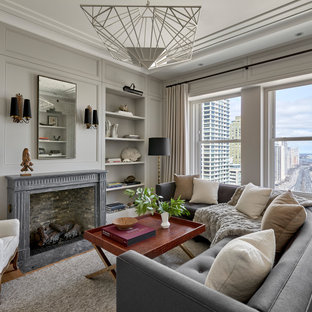 75 Beautiful Transitional Gray Living Room Pictures & Ideas ...