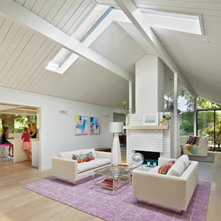Vaulted Ceiling With Skylights Living Room Ideas Photos