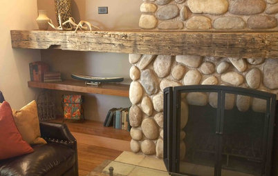 9 Inventive Materials for Memorable Fireplace Mantels