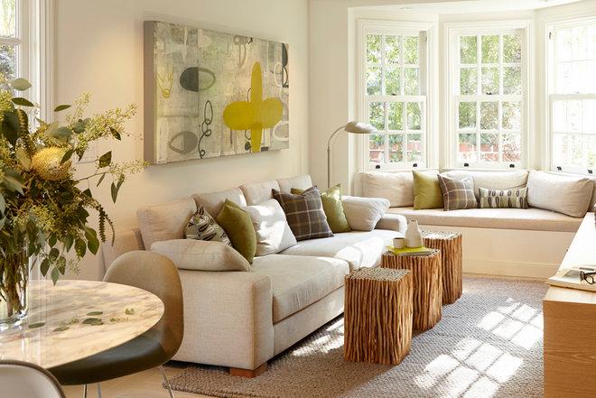 Contemporary Living Room by Pamela Pennington Studios