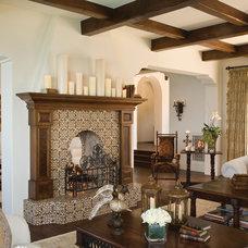 Mediterranean Living Room by Marengo Morton Architects