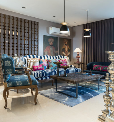 Eclectic Living Room by Shantanu Garg Design