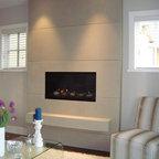 Paneled Fireplace Surround - Custom Wide Format Panels