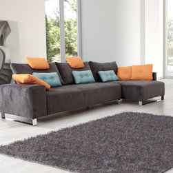 Pantom Contemporary Fabric Modular Sectional Sofa - Beauty from simple ideas.We extend the concept of single modules with a wide range of measures and combinations that offer new solutions to suit any home environment.The combinations are endless, you just need to find yours.