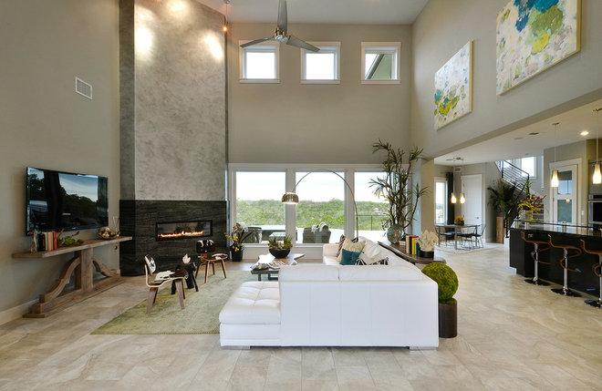 Contemporary Living Room by Pillar Custom Homes, Inc.