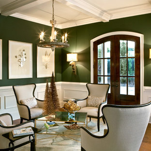 Ordinaire Example Of A Classic Formal And Open Concept Medium Tone Wood Floor Living  Room Design In