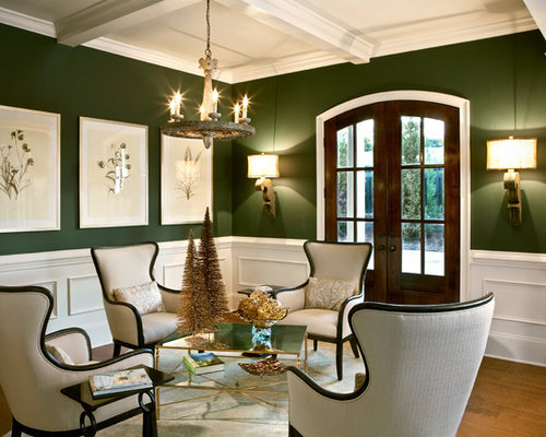 Example Of A Classic Formal And Open Concept Medium Tone Wood Floor Living  Room Design In Part 48