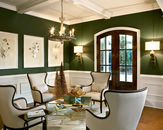 dark green walls | houzz