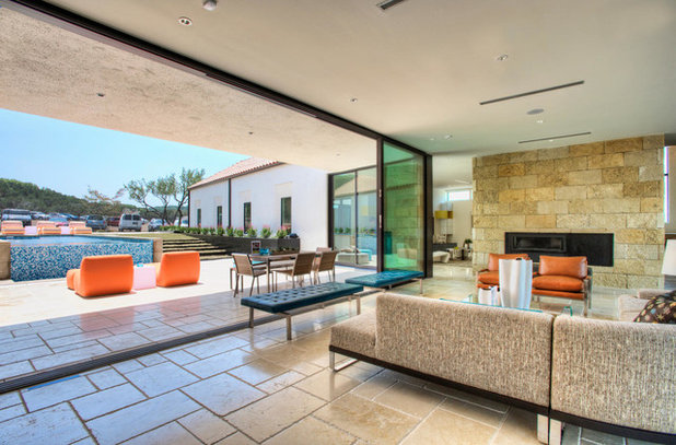 Contemporary Living Room by Progressive Solutions / Renaissance Bronze Windows