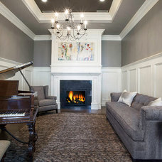 Traditional Living Room by Lane Myers Construction
