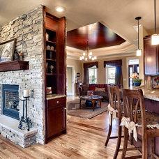Traditional Living Room by Lisa Ryan
