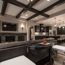 Traditional Living Room by Titan Homes LLC