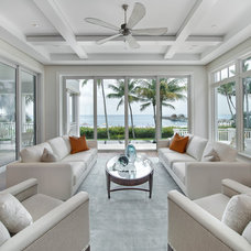 Beach Style Living Room by Stofft Cooney Architects