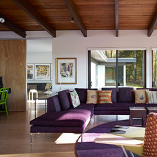 Midcentury Living Room by Billinkoff Architecture PLLC