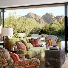 Mediterranean Living Room by Wiseman & Gale Interiors