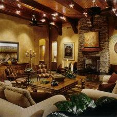 Mediterranean Living Room by Debra May Himes Interior Design & Associates, LLC