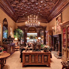 traditional living room by R.J. Gurley Custom Homes