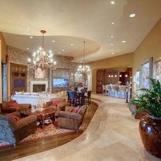 Mediterranean Living Room by Artful Design Interiors