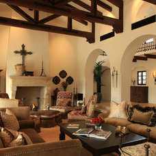 Mediterranean Living Room by PavoReal Interiors