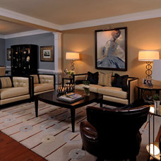 Traditional Living Room by Kristin Drohan Collection and Interior Design