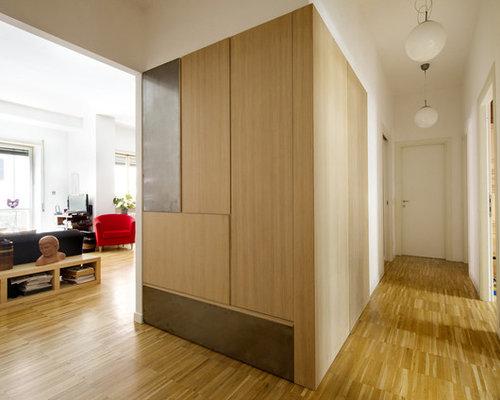 Boiserie-armadio Rovere e Ferro (Oak and iron Wall Cabinet)