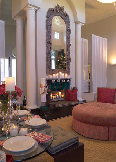 Traditional Living Room by Jane Ellison