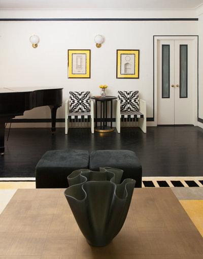 Modern Living Room by David Estreich Architects