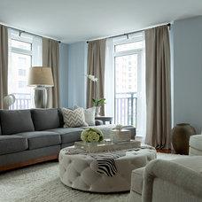 Transitional Living Room by The Elegant Abode Interior Design