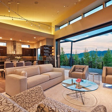 Contemporary Living Room by CD Construction, Inc.