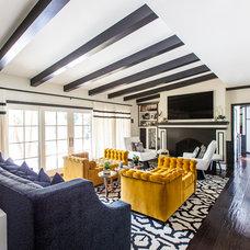 Transitional Living Room by FLO Design Studio