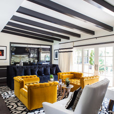 Transitional Living Room by FLO Design Studio