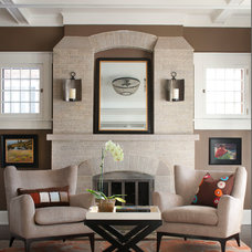 Transitional Living Room by company kd, llc.