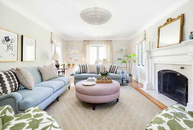 Traditional Living Room by Ashleigh Weatherill Interior Design