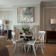 Transitional Living Room by jamesthomas, LLC
