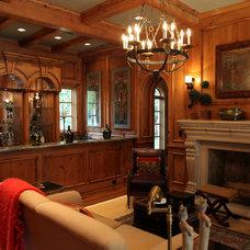 Mediterranean Living Room by L. Lumpkins Architect, Inc.