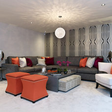 Contemporary Family Room by Concept Interiors