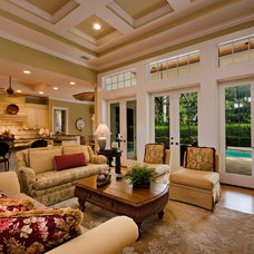 Tropical Living Room by 41 West