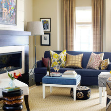 Contemporary Living Room by Lisa Ferguson Interior Design