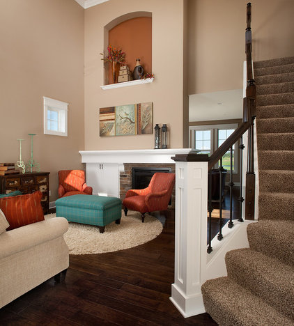 Traditional Living Room by Eastbrook Homes