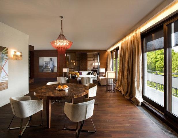 Contemporain Salon by EXIT Interior Design Studio