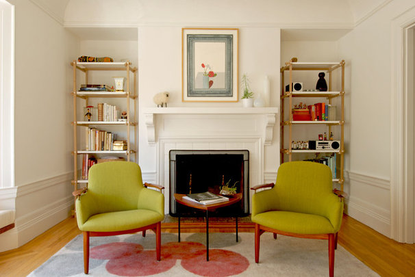 Midcentury Living Room by Megan Nordin Designs