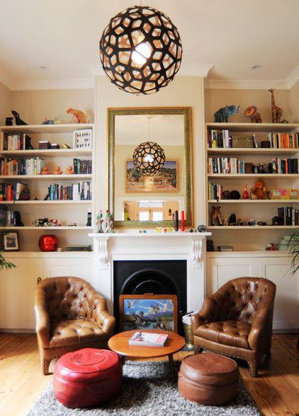 Eclectic Living Room by Hosking Interior Design
