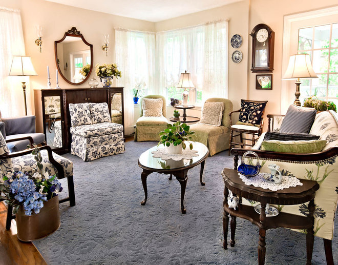 Traditional Living Room by Rikki Snyder
