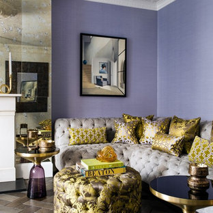 75 Beautiful Eclectic Living Room With Purple Walls Pictures Ideas February 2021 Houzz