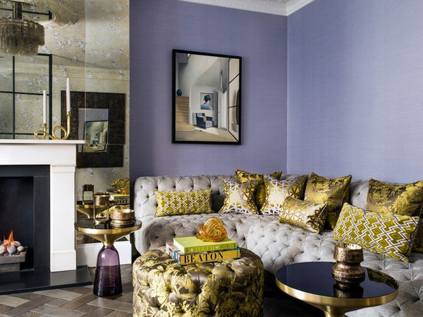 Eclectic Living Room by Timothy Mather Design