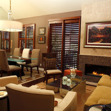 Contemporary Living Room by Marlene Oliphant Designs LLC
