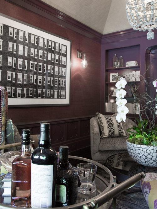 petit salon avec un mur violet photos et id es d co de salons. Black Bedroom Furniture Sets. Home Design Ideas