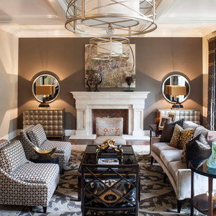 Pasadena Transitional Style Italian Revival Formal Living Room