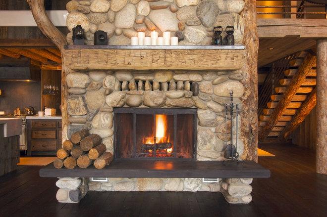 Деревенском камин в кабине журнала - Стоковое фото #2359174. Ознакомьтесь
