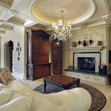 Traditional Living Room by Assyrian Star Construction Inc